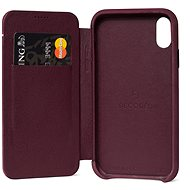 Decoded Leather Slim Wallet Purple iPhone XR - Kryt na mobil