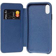 Decoded Leather Slim Wallet Blue iPhone XR - Ochranný kryt