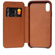 Decoded Leather Slim Wallet Brown iPhone XS Max - Kryt na mobil