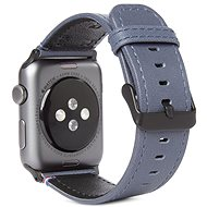 Decoded Leather Strap Blue Apple Watch 44/42 mm