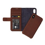 Decoded Leather 2in1 Wallet Case Brown iPhone XS/X - Pouzdro na mobilní telefon