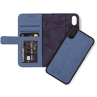 Decoded Leather 2in1 Wallet Blue iPhone XS Max - Pouzdro na mobilní telefon