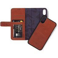 Decorated Leather 2in1 Wallet Brown iPhone XS Max - Mobile Phone Case