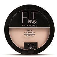 MAYBELLINE NEW YORK Fit Me Matte+Poreless 115 Ivory 14 g - Pudr