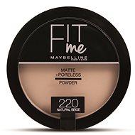 MAYBELLINE NEW YORK Fit Me Matte+Poreless 220 Natural Beige 14 g - Pudr