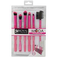 Moda® Beautiful Eyes Pink Brush Kit 7 ks - Sada kosmetických štětců