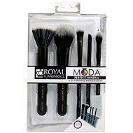 Moda® Perfect Mineral Black Brush Kit 6 ks - Sada kosmetických štětců