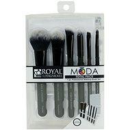 Moda® Total Face Black Brush Kit 7 ks - Sada kosmetických štětců