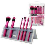 Moda® Total Face Pink Brush Kit 7 ks - Sada kosmetických štětců