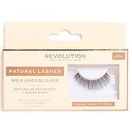 REVOLUTION No.3 Undercover Natural 1 pcs - Adhesive False Eyelashes