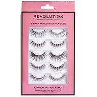 REVOLUTION 5 Pack Mixed Wispy 5pcs - Adhesive False Eyelashes