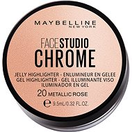 MAYBELLINE NEW YORK Face Studio Chrome Jelly Highlighter 20 Metallic Rose 9,5 ml