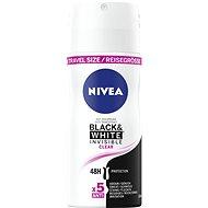 NIVEA Black&White Clear mini 100 ml - cestovní balení - Dámský antiperspirant