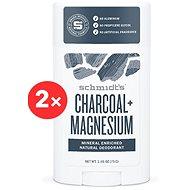 SCHMIDT'S Signature aktivní uhlí + horčík 2 × 58 ml - Pánský deodorant