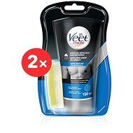 VEET Men Silk&Fresh Sensitive Skin Shower Cream 2 × 150 ml