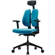 3DE DUOrest Butterfly - modrá - Kancelářská židle