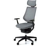 3DE ING Glider 360° s podhlavníkem - šedá - Kancelářská židle