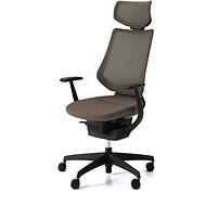 3DE ING Glider 360° s podhlavníkem - hnědá - Kancelářská židle