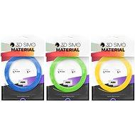 3DSimo Filament ABS modrá, zelená, žlutá - Filament