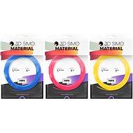 3DSimo Filament HIPS - modrá, růžová, žlutá - Filament