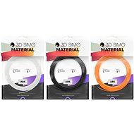 3DSimo Filament ABS II oranžová, černá, bílá - Filament