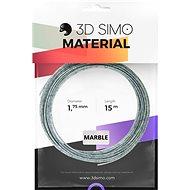 3DSimo Filament MARBLE - šedá 15m - Tisková struna
