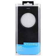 DOOGEE X7/X7 PRO Flip Case + Screen Protector Glass Black - Pouzdro na mobilní telefon