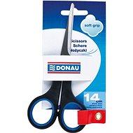 DONAU 14cm Soft Grip černo/modré - Kancelářské nůžky