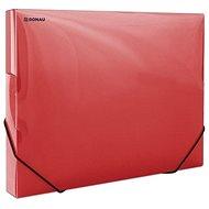 DONAU Propyglass A4 - transparentní, červené