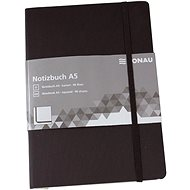 Zápisník DONAU A5 96 listů, čtverečkovaný, černý
