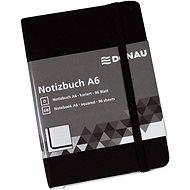Zápisník DONAU A6 96 listů, čtverečkovaný, černý