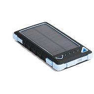 DOCA Powerbank Solar 8000mAh černá/modrá - Powerbanka