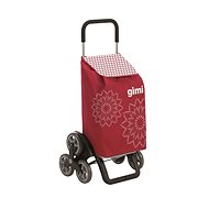 GIMI Tris Floral červený nákupní vozík 56 l - Vozík