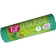 VIPOR LDPE Top Extra pevné 240 l, 10 ks, zelený - Pytle na odpad