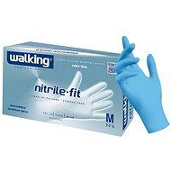 WALKING Nitrile Fit 100 ks, nitrilové, modré, S - Rukavice
