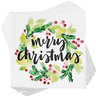 BUTLERS Aprés Merry Christmas zelené 20 ks - Papírové ubrousky