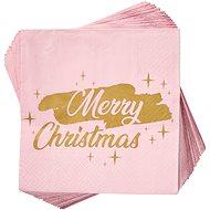 BUTLERS Aprés Merry Christmas růžové 20 ks - Papírové ubrousky