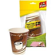 FINO Papírové kelímky 250 ml,  6 ks - Outdoorové nádobí