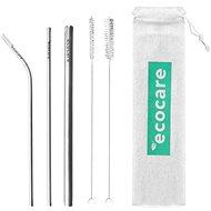 CHARCOAL Ecological Metal Straws Set - Straws