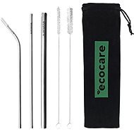 CHARCOAL Ecological Metal Straws Set Black - Straw