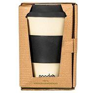 PANDOO Reusable Bamboo Coffee-to-Go Cup, 450ml, White