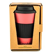 PANDOO Reusable Bamboo Coffee-to-Go Cup, 450ml, Red