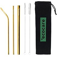 ECOCARE Ecological Metal Straws Set Pink - Straw