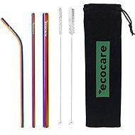 ECOCARE Ecological Metal Straws Set Black
