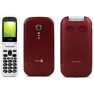 Doro 2404 Dual SIM Red - Mobilní telefon