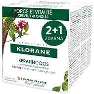 Doplněk stravy KLORANE KeratinCaps - Síla & vitalita, vlasy a nehty, doplněk stravy 3 × 30 tobolek
