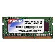 Patriot SO-DIMM 4GB DDR3 1333MHz CL9 Signature Line - Operační paměť