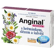 Dr.Müller Anginal® Tablets with Camomile, Mallow and Sage, 16 Tablets - Herbal Lozenges