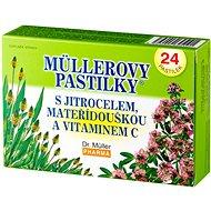 Müllerovy pastilky® s jitrocelem, mateřídouškou a vitaminem C  24 ks - Bylinné pastilky