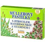 Müllerovy pastilky® s jitrocelem, mateřídouškou a vitaminem C  12ks - Bylinné pastilky
